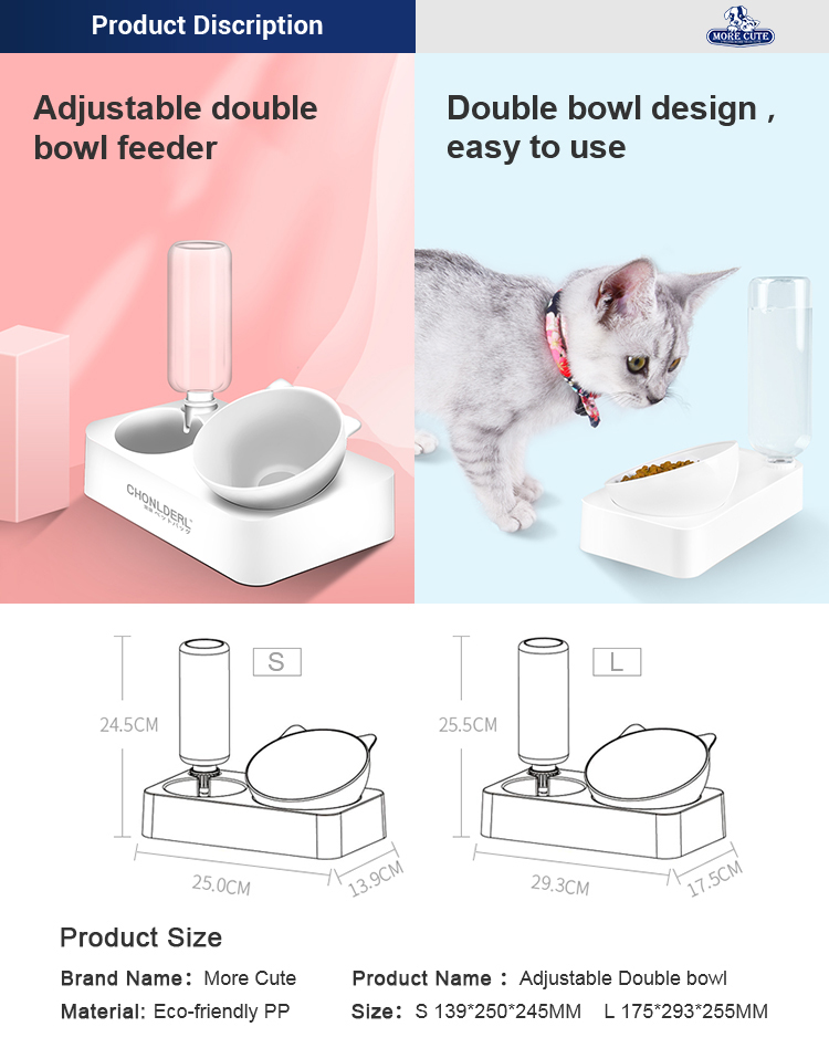 Morecute Pet Factory best selling dog bowl slow feeder cat dish pet water purifier auto pet feeder