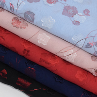100% polyester french silk embroidery print chiffon fabric