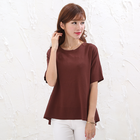 2020 Summer Women's Round Neck Short Sleeve Loose Fluffy Sweater Ladies Pullover Jersey Sweater