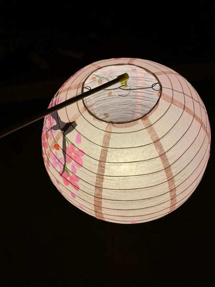 Custom Printed Colorful Round Janpan Paper Lanterns for Party Festival Home Decoration