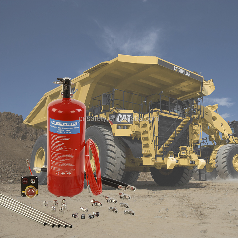 ECE R107 Certificated Dry Powder Fire Protection System for Off- Road Mining Vehicle