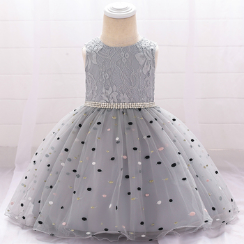 New Arrival Wholesale Baby Frock Designs Korean Style Formal lace dress for baby girls L1900XZ