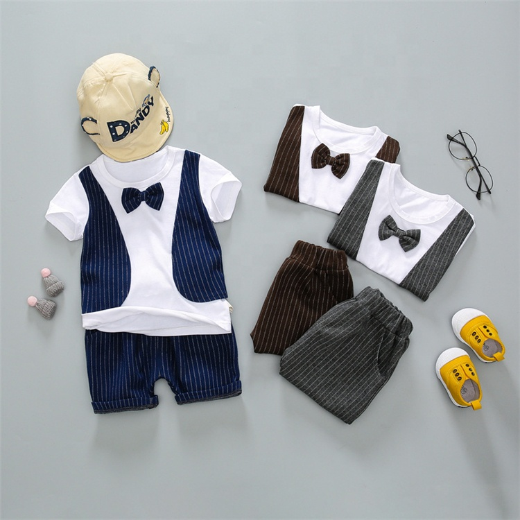 Children Clothing Manufacturers China Two Piece T-Shirt And Pants Boys Clothing Sets Matching Clothes Summer