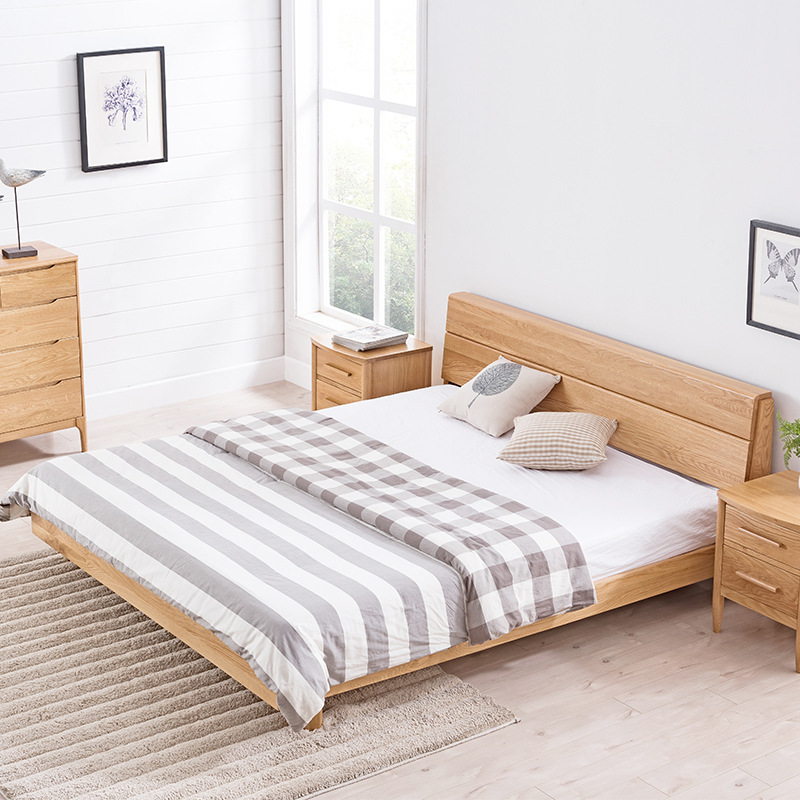 product-Morden Natural Wooden Solid Single Bed For Bedroom Furniture Frame Designs-BoomDear Wood-img-1