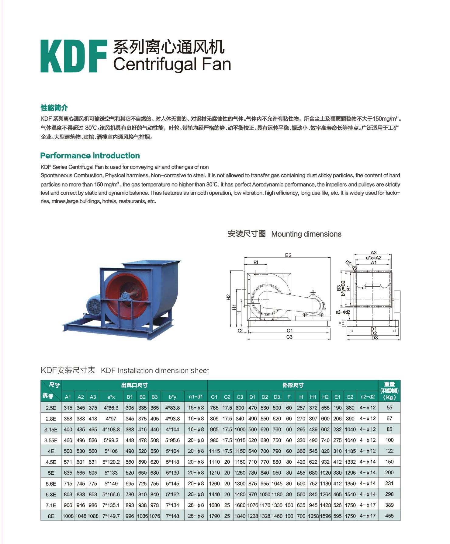 KDF Best price small powerful heavy duty wall mount micro sun air elevator blowers centrifugal fan