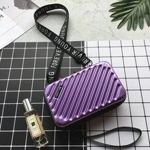 Роскошные ручные сумки для женщин 2019 новая чемоданная форма сумки модные миниатюрный чемодан сумка женский клатч известного бренда сумка м...(Китай)