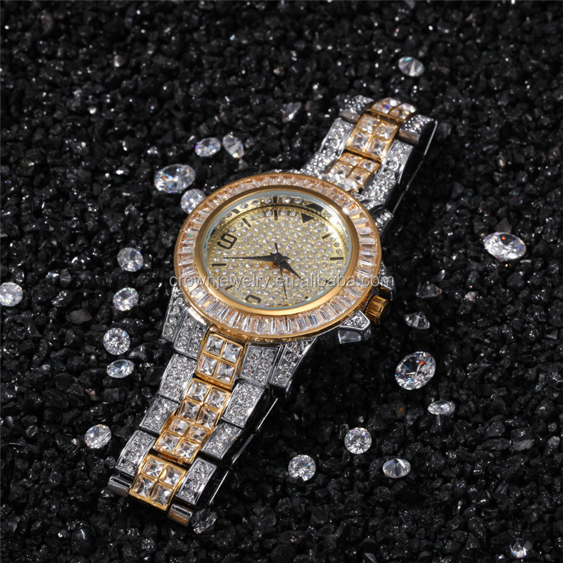 2020 New Women Luxury Crystal Rose Gold Diamond Rhinestone Wrist Watch