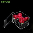 UNIVERSE Hot Sale Clear High Quality Wholesale Acrylic Flower Box Acrylic Rose Box