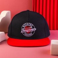 custom different embroidered logo snapback cap