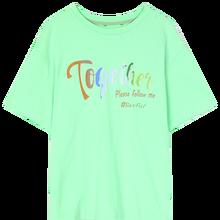 Женская Повседневная футболка ELFSACK, зеленый винтажный топ с коротким рукавом и графическим принтом в стиле Харадзюку, лето 2020(China)