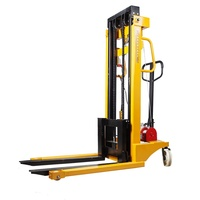 1.5T Warehousing forklift remote Semi Electric Apilador stacker Pallet Lifter