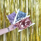 1m*2m Multiple Size Many Colors Metallic Tinsel Foil Fringe Door Curtains for Party Photo Backdrop