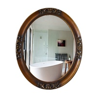 Resin oval decorative wall mirror in antique design