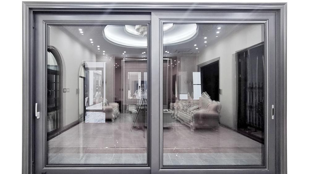 נמוך - e זכוכית מרפסת אלומיניום עיצוב דלתות הזזה מזכוכית