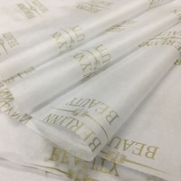 Custom logo printed printed 17/22gsm wrapping tissue paper for clothes