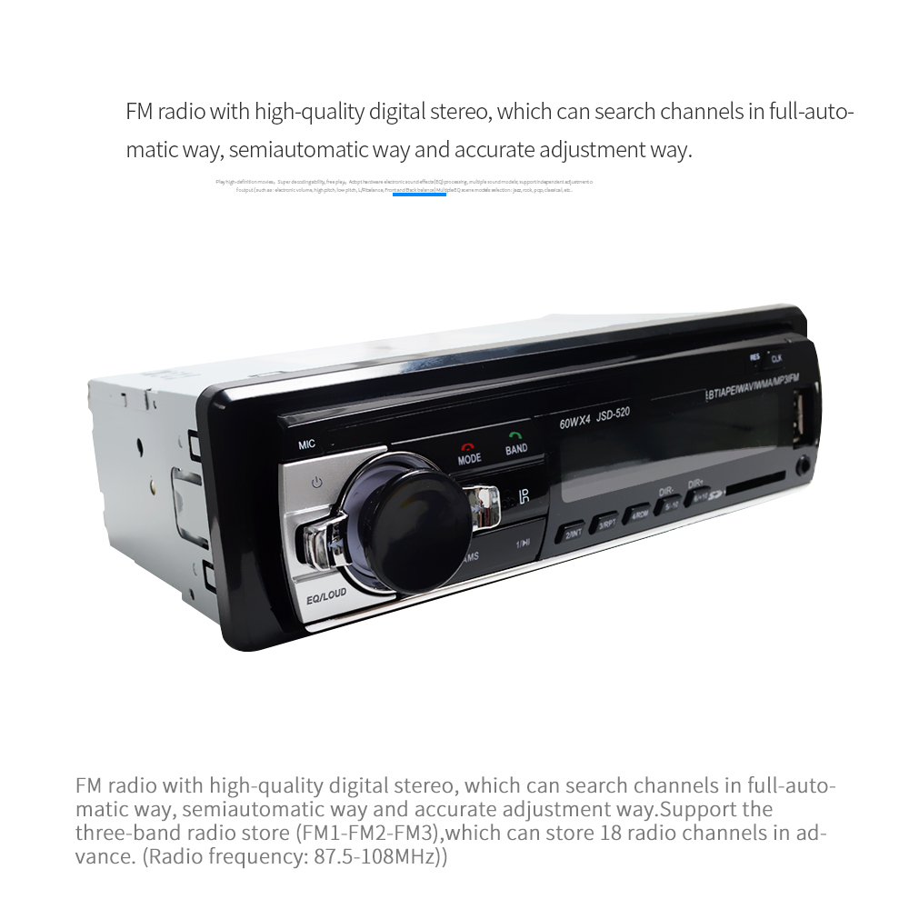 high quality bluetooth wireless download radio mp3 music player for car