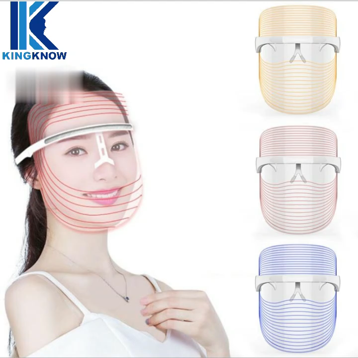 Rechargeable LED Light Therapy Face Mask Photon Therapy Light Skin Rejuvenation Wrinkle Removal Facial Skin Care beauty Mask