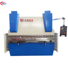 steel plate bending machine Hydraulic metal sheet plate press brake metal bender machine woking