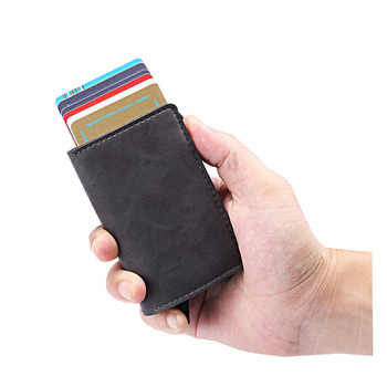 front pocket slim aluminum card holder rfid blocking wallet for men