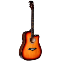 "Sunburst color Fashionable dreadnought chrome die-cast Basswood and Catalpa 41 ""professional acoustic guitar for sale"