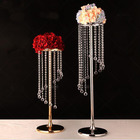 Hanging Crystal Road Lead Flower Stand Wedding Decoration Tall Wedding Table Centerpiece Wedding Supplies