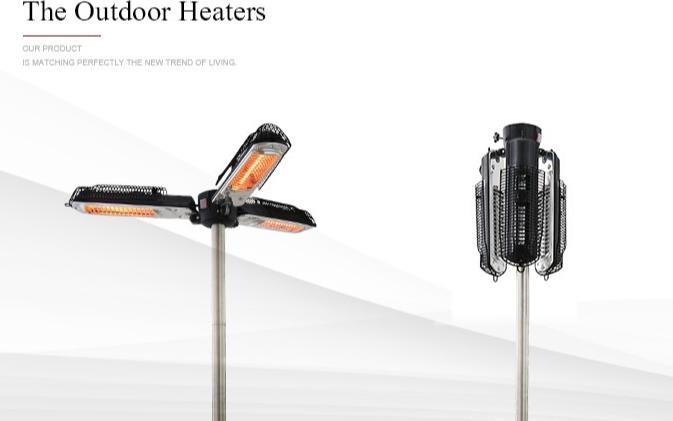 बिजली आउटडोर हलोजन आँगन छाता छत्र हीटर