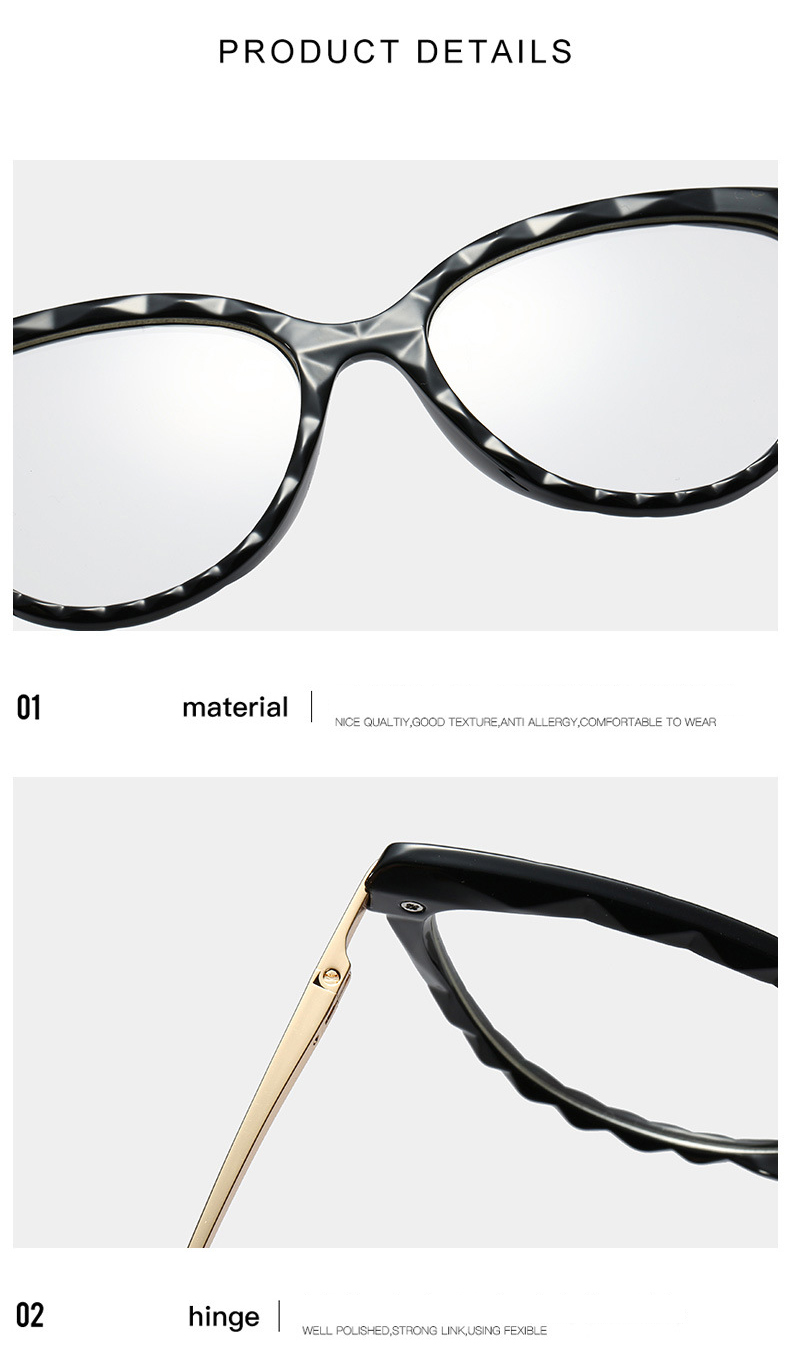 women vintage TR90 optical frames brand designer female spectacles frame eyeglasses clear cat eye style