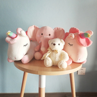 2020 Hot sale unicorn & elephant & small bear animal plush toy baby valentine gift customized