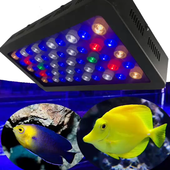 2018新しい高電力165ワットのフルスペクトラムledコーラルリーフ水族館ライト水族館の魚タンクライト用waterplants