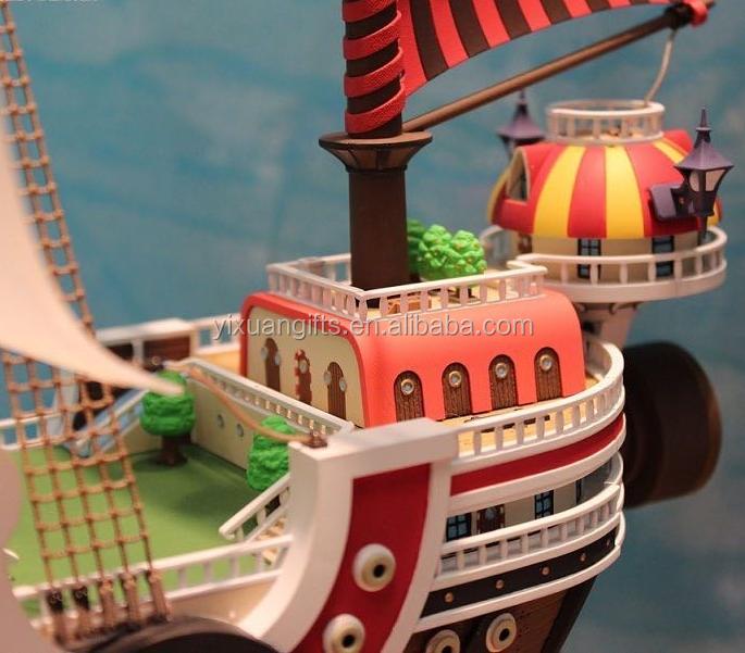 One Piece Anime Thousand Sunny Ship Double Sided Key Chain