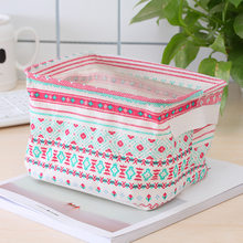 Складная Настольная корзина для хранения, различные хлопковые льняные корзины для хранения, корзина для домашнего хранения, органайзер, ко...(Китай)