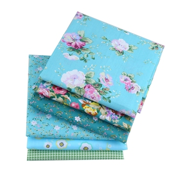 Flowers Dot Printed Pre-cut Bundle 100% Cotton Patchwork Fabric Tissue Green Home Decoration For DIY Sewing