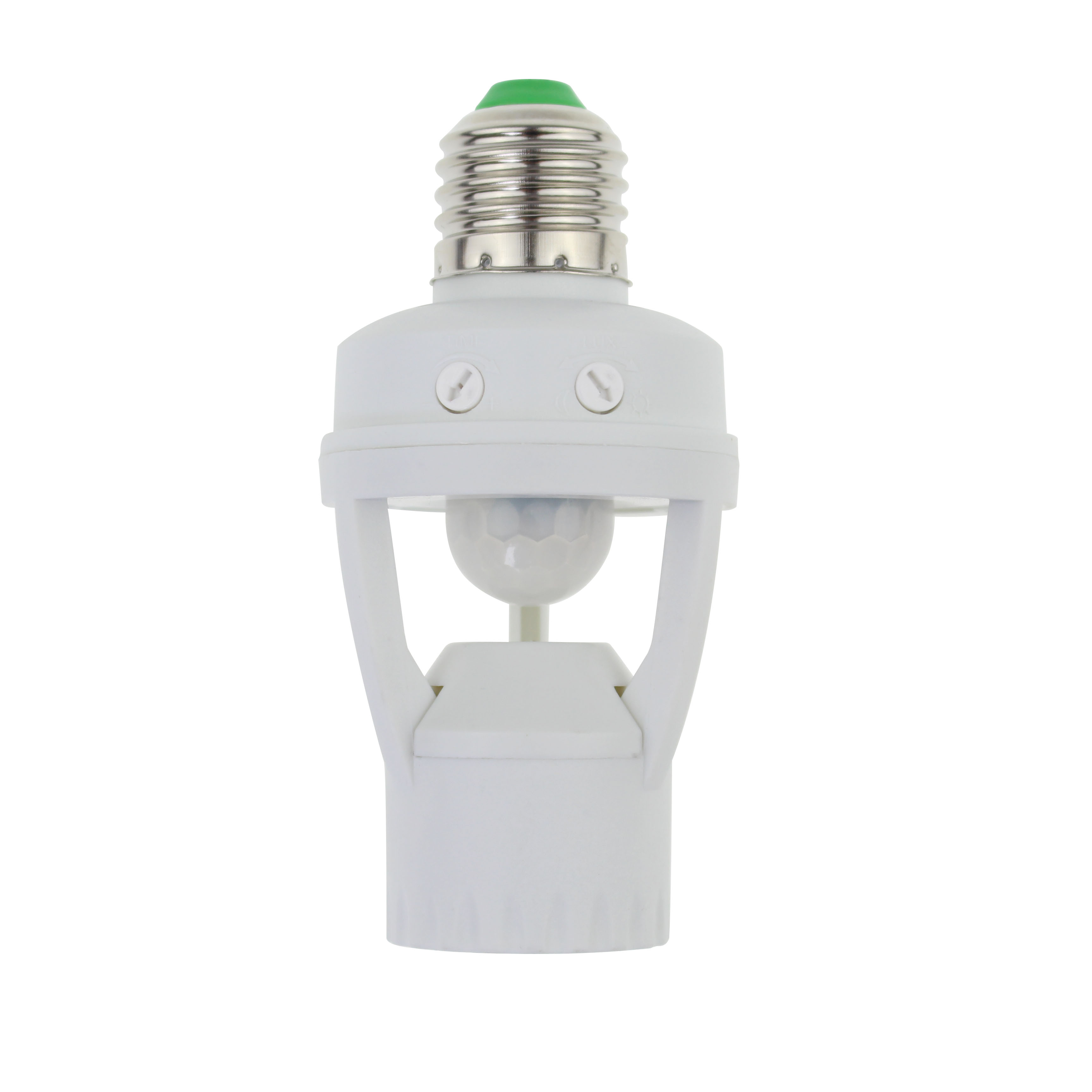 <strong>E27</strong> base plastic bulb holder infrared motion sensor lamp holder