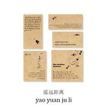 JIANWU 30 шт., ретро-блокнот из крафт-бумаги, декоративный материал для журнала на английском языке, альбом для скрапбукинга, канцелярские прина...(Китай)