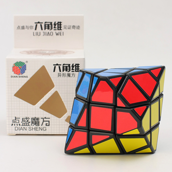 Diansheng toys 6-corner-only speed hexagon shaped magic cube puzzle cube for educational toys kids games