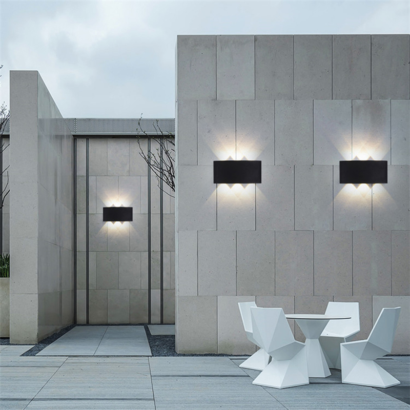 2W 4W 6W 8W Up Down Outdoor Indoor Wall Lamps Light Waterproof Modern LED Wall Lamp