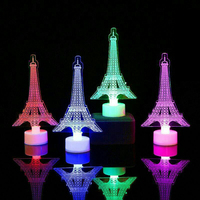 2019 Christmas Tree Eiffel Tower Shape Colorful Bright LED Night Lamp Decorative Small LED Night Light Lamp Cheap