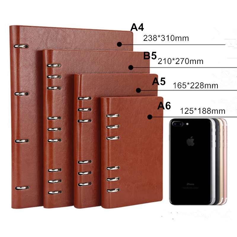 Wholesale Creative A5 Loose Leaf Business Binder Planners and Notebooks for Gift