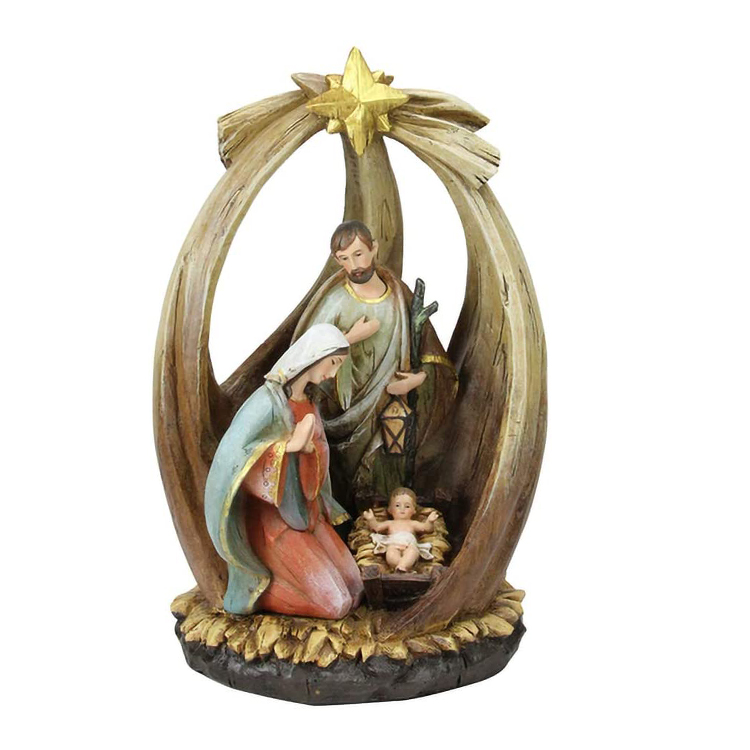 Customized holy family resin christmas religious bible scene set figurines nativity collection*