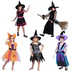 Hot sale Halloween witch cosplay costume girls fancy dress carnival costumes for kids children festival clothing