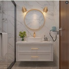 Hotel Furniture Modern Bath Bathroom Cabinet with Mirrors , Bathroom Furniture vanity