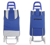 Grocery Supermarket Climbing Stair Folding Trolley Bag Shopping Cart made of satin fabric