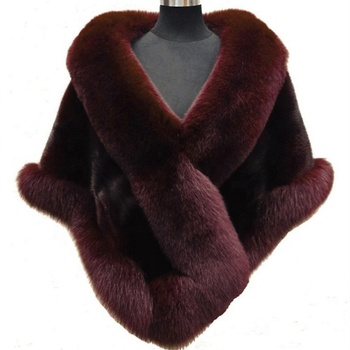 Latest Design Elegant Style Winter Ladies Faux Fur Cape