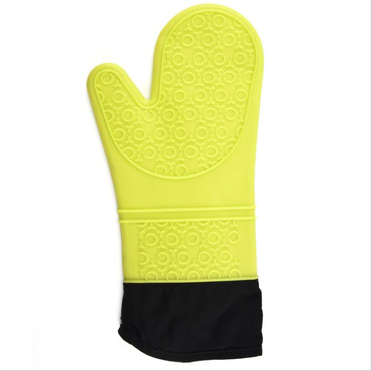 Silicone à cinq doigts gant pour ustensiles de cuisine cuisson longue four cuisine gants isolés