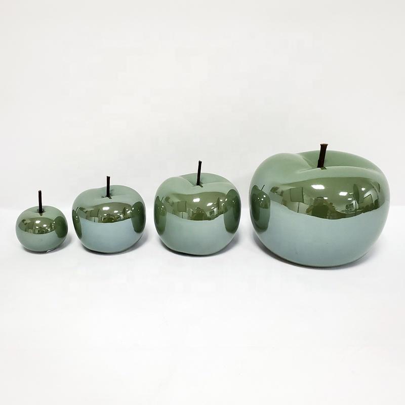 Artificial fruit ceramic apple for home decor decoration