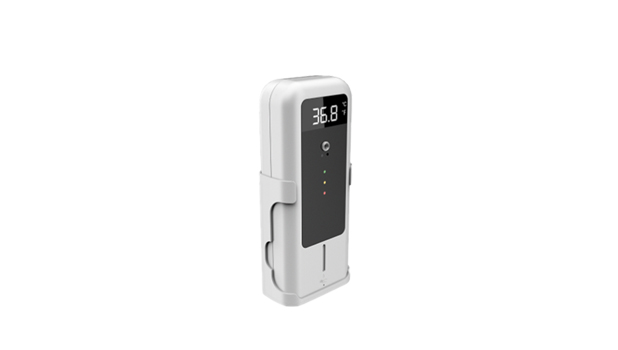 Multi-Function digital signage display hand sanitizer with IR Auto Temperature Measure Equipment