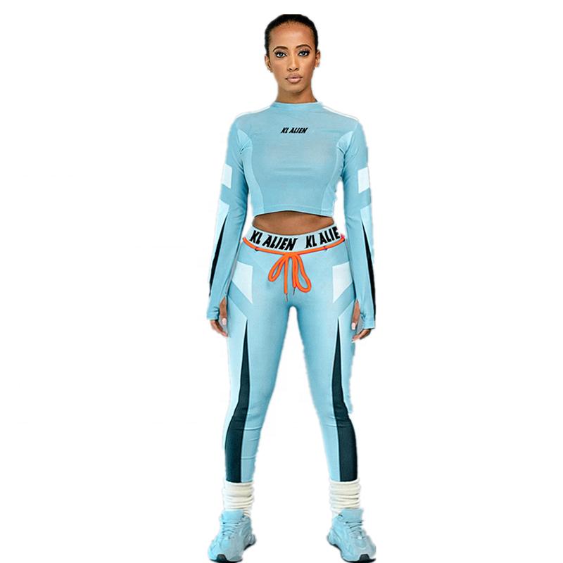 ASSUN 2020 plus größe private label frauen sport fitness & yoga wear set gedruckt leggings