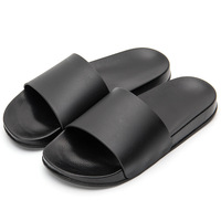 2019 classical plain white black high quality waterproof EVA mens slide sandal slipper