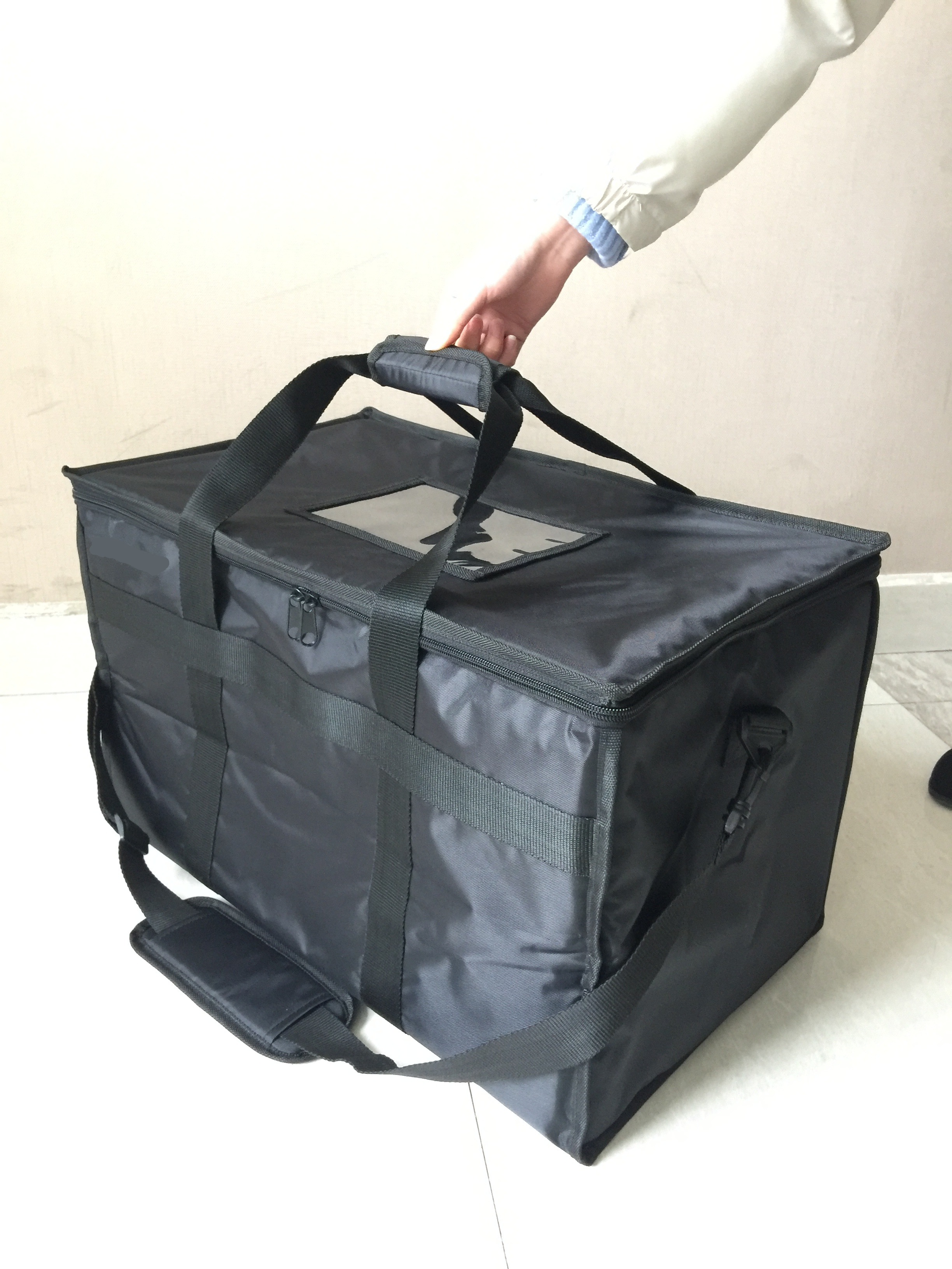 2020 Good Quality Keep Temperature Inside Polyester Insulated Food Delivery Bag with Removable Padded Divider Compartments