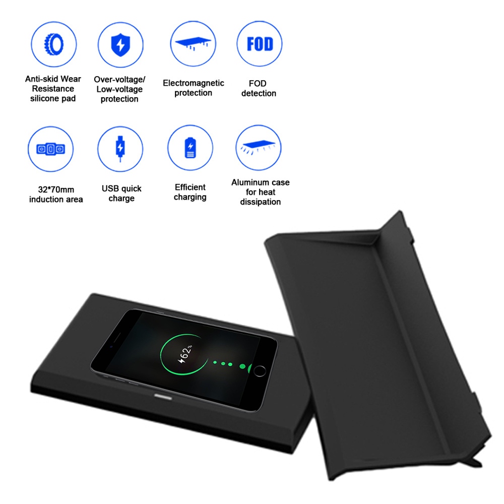 Wireless Charger Car Wireless Charging pad Center Console Fast Quick Phone Charger Fit for Ja-guar XE//XF//XFL//F-PACE 2017-2019 15W